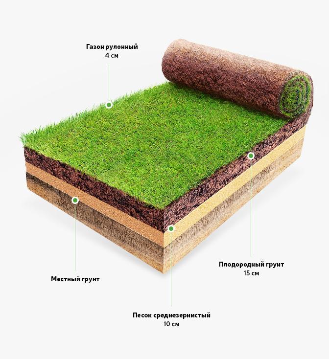 подготовка почвы под рулонный газон этого оказались