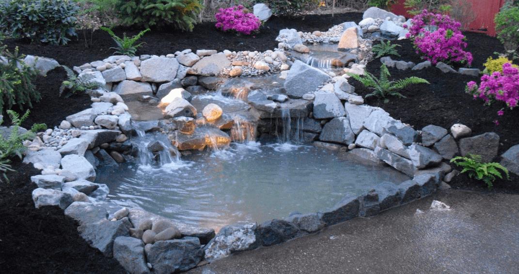 сделать водопад на даче