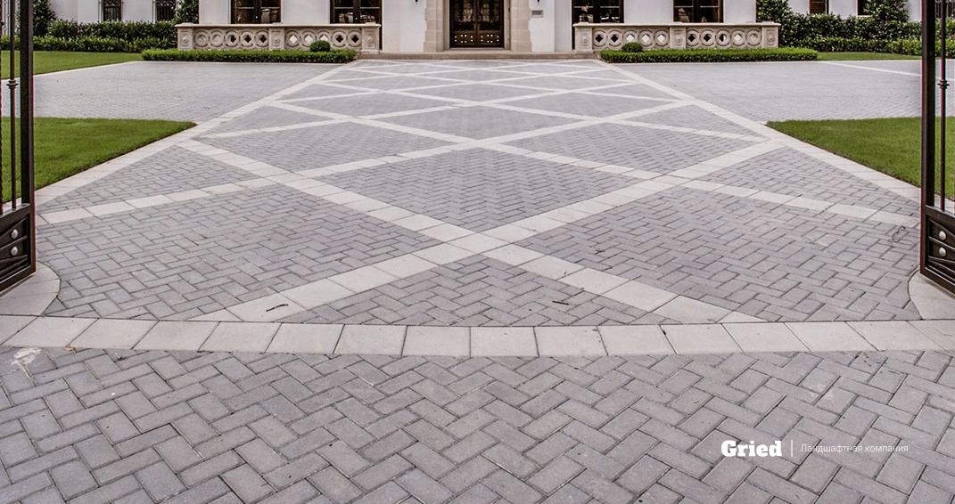 Дачаная дорожка из тротуарной плитки