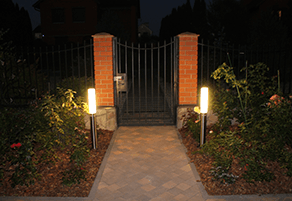 Подсветка садовых дорожек фото