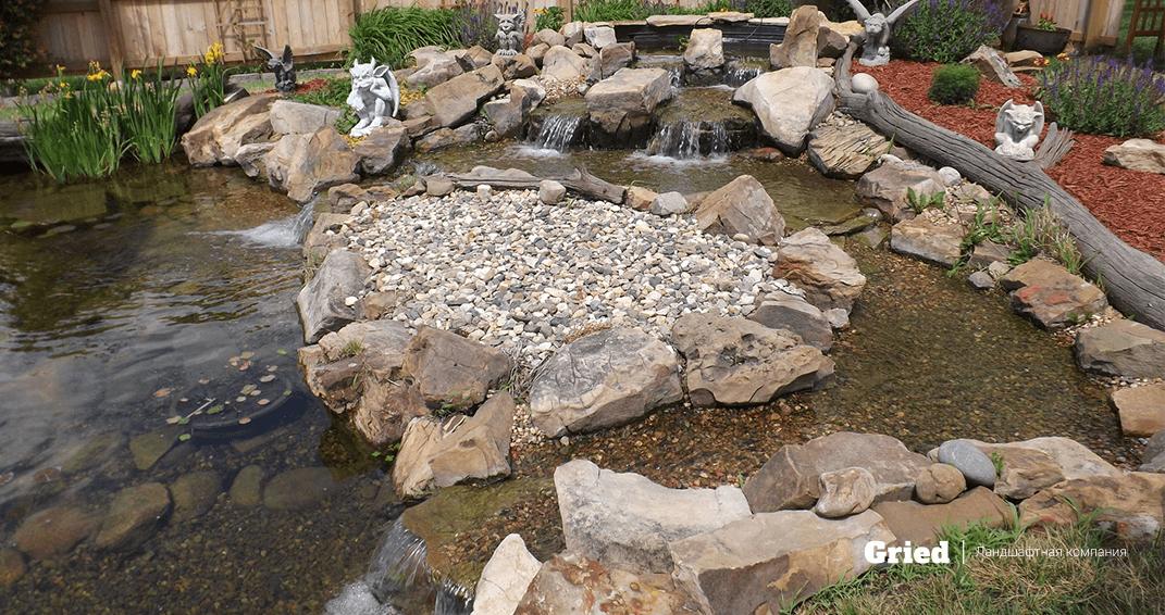 Строительство водоемов и прудов фото