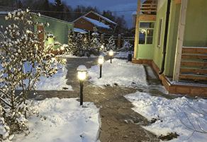 Подсветка садовых дорожек фото Steinel GL 16 S black